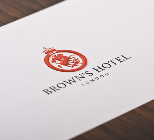 browns hotel emboss